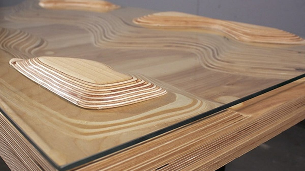 Topographic Tables Mix Geology With Interior Design - Topographic coffee table