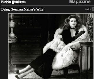 """Illustration for article titled The Beauty Trap: Hillary Clinton And Norman Mailer's """"Last Wife"""""""