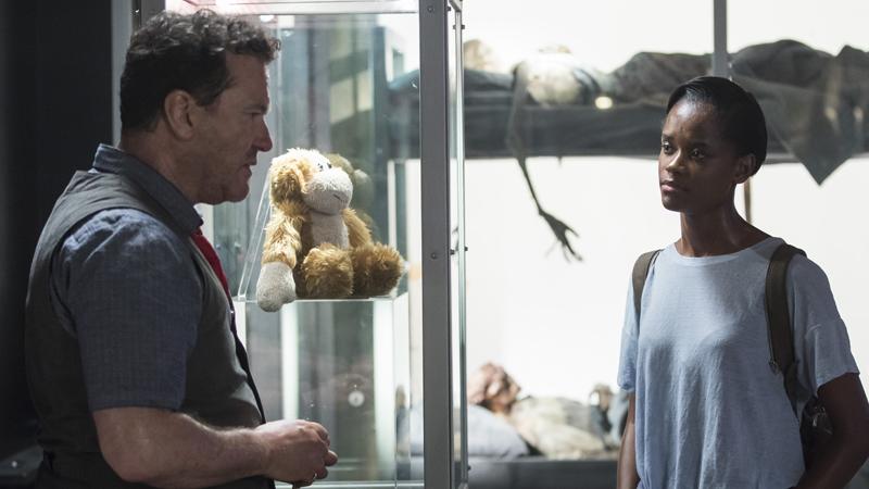 Douglas Hodge and Letitia Wright in the fourth season of Black Mirror.