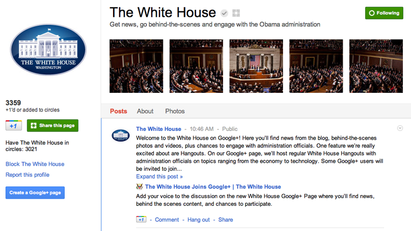 Illustration for article titled President Obama Will Be Hanging Out on Google+ Next Week