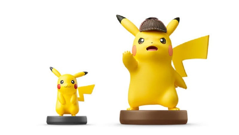 Hasil gambar untuk That game about Pikachu as a gruff detective is coming west with a HUGE amiibo