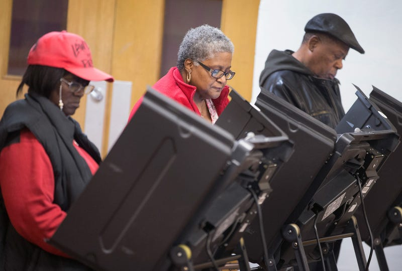 Residents casting their votes Nov. 4, 2014, at a polling place in Ferguson, Mo.Scott Olson/Getty Images