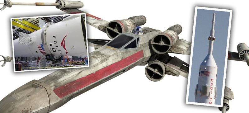 Illustration for article titled Why Elon Musk's 'X-Wing' Rocket Isn't As Crazy As It Sounds