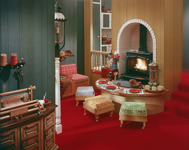 Trendy Home Decor Part - 34: Wanna Know How Your Trendy Home Decor Will Age? Look To These U0027Modelu0027 Rooms  Of The 1970s