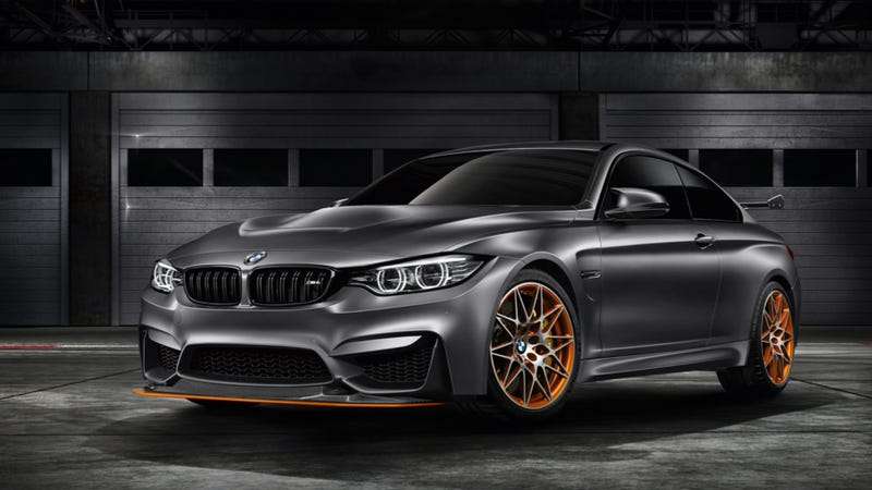Illustration for article titled The BMW M4 GTS Concept Is Your Bavarian Water-Injected Track Star