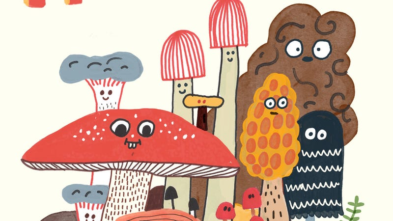 Illustration for article titled Discover the wonders of fungi in this Mushroom Fan Club exclusive