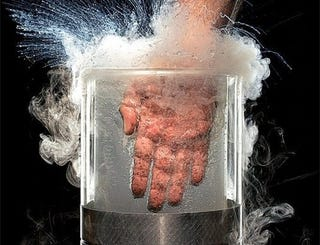 Illustration for article titled You can safely stick your hand in liquid nitrogen...but you probably shouldn't