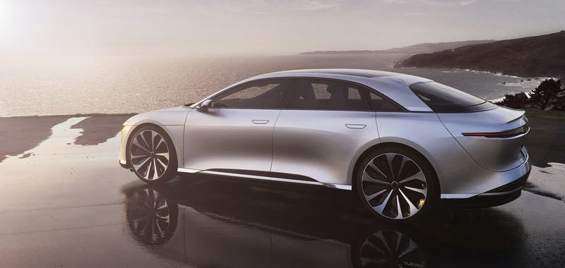 Ilration For Article Led The Lucid Air Wants To Be A Sleek 1000 Hp Electric Tesla