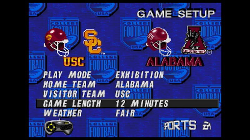 Illustration for article titled We're Simulating USC-Alabama In NCAA '97 Using Updated Rosters