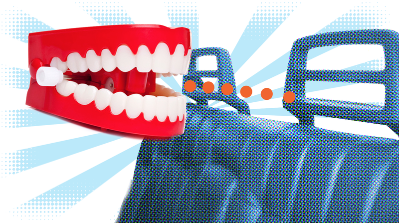 Illustration for article titled Quick Question: What's The Most Satisfying Car Part To Bite?