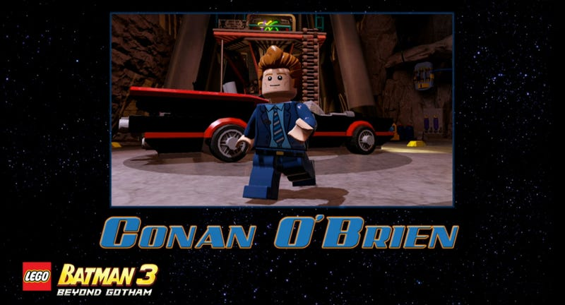 Illustration for article titled Conan O'Brien? The Green Loontern? LEGO Batman 3 Keeps Getting Better
