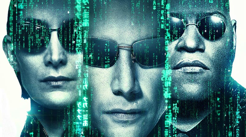 A crop of the 20th anniversary poster for The Matrix