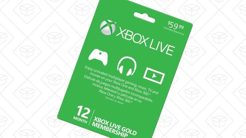Xbox Live Gold 12 Months, $25