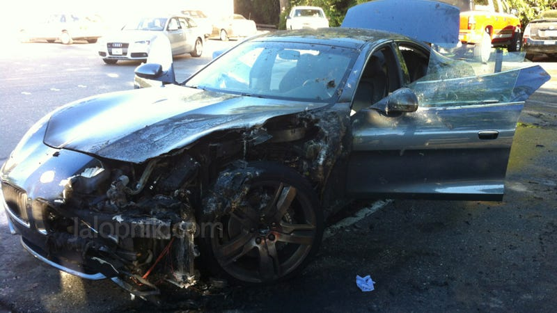 Illustration for article titled Fisker Assures Us They Have No Idea Why Their Cars Keep Catching On Fire