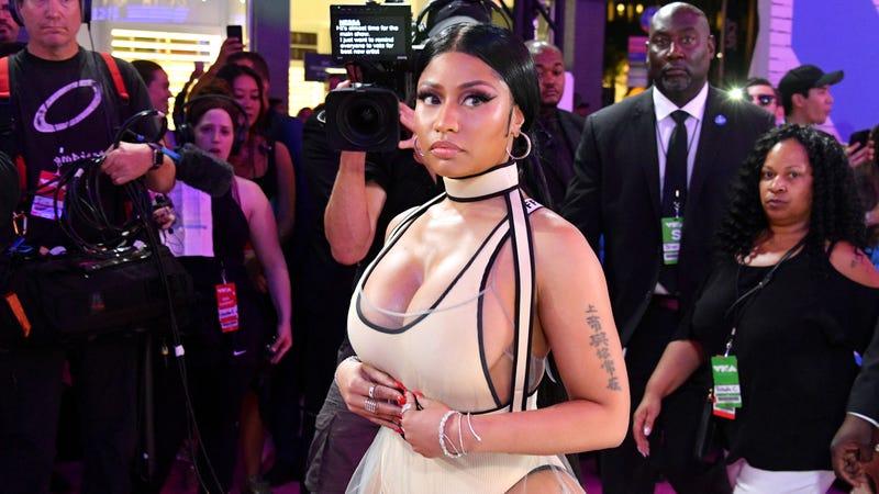 Nicki Minaj attends the 2018 MTV Video Music Awards at Radio City Music Hall on August 20, 2018 in New York City.