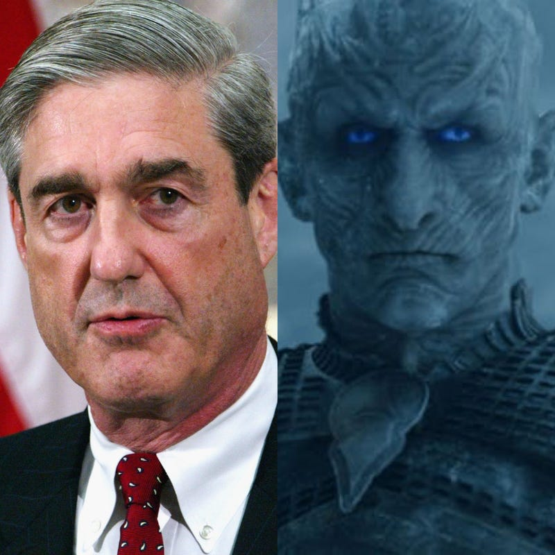 Illustration for article titled Reflections on Special Counsel Robert Mueller's Public Statement. First Thought: Damn, He Looks Like the Night King