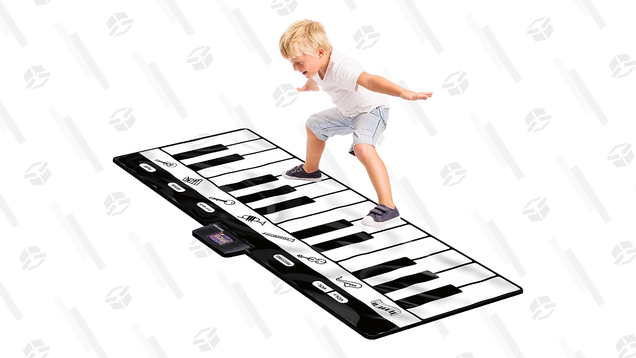 Live Out Your Big Fantasies With a Giant Piano Floor Mat, Just $31
