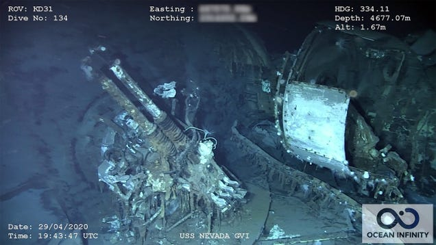 Underwater Drones Discover Battleship That Survived Atomic Blasts and Both World Wars