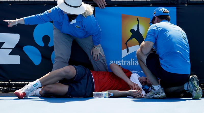 Illustration for article titled Players Are Fainting, Puking, And Hallucinating At The Australian Open
