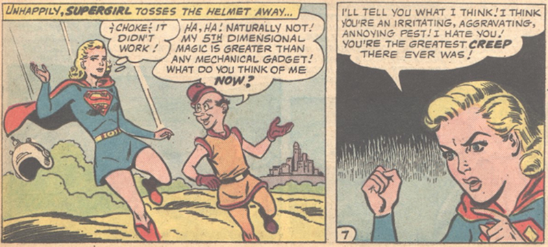 """From Action Comics #291's """"The Bride of Mr. Mxyzptlk"""" by Jerry Siegel and Jim Mooney."""