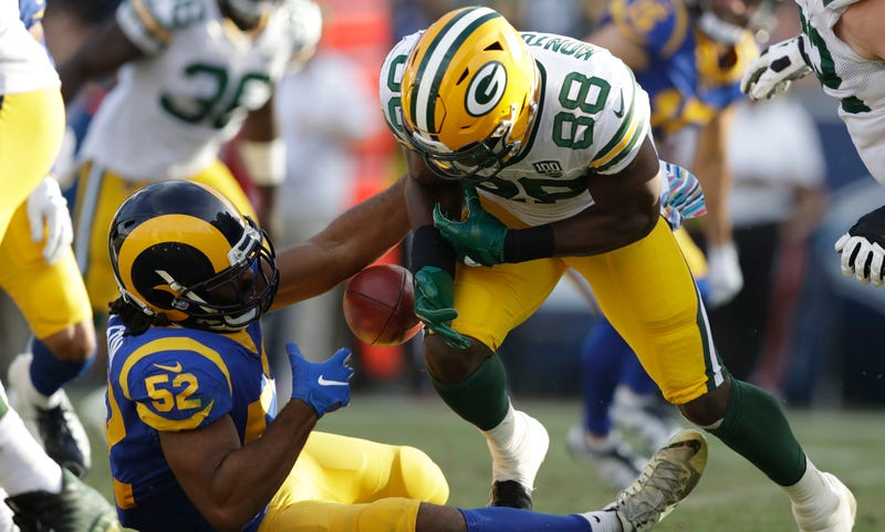 Illustration for article titled Ty Montgomery Says He Wasn't Sure If He Was In The End Zone