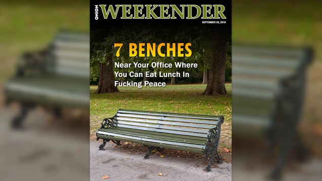 7 Benches Near Your Office Where You Can Eat Lunch In Fucking Peace