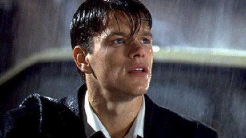 This image is from The Rainmaker movie, and not from Matt Damon's audition for The Notebook
