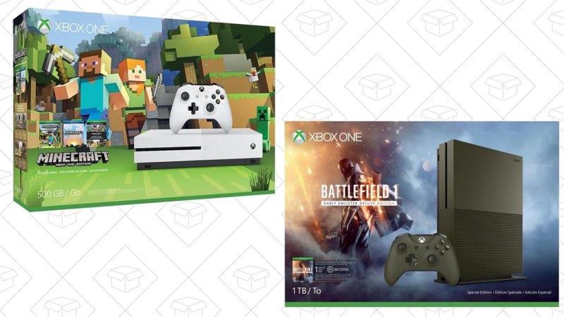 Xbox One S 500GB Minecraft Bundle, $200 | Xbox One S 1TB Battlefield 1 Bundle, $240