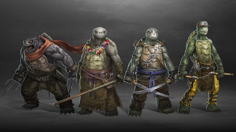 Here's a quite unique Teenage Mutant Ninja Turtles redesign, made by DeviantART artist Ancorgil.