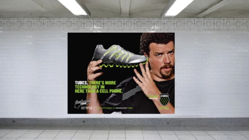 Illustration for article titled K-Swiss enlists Eastbound And Down's Kenny Powers to sell some fucking shoes