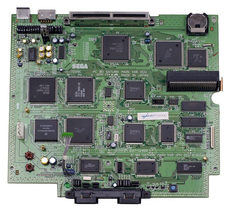 Illustration for article titled Sega Saturn Circuit Board