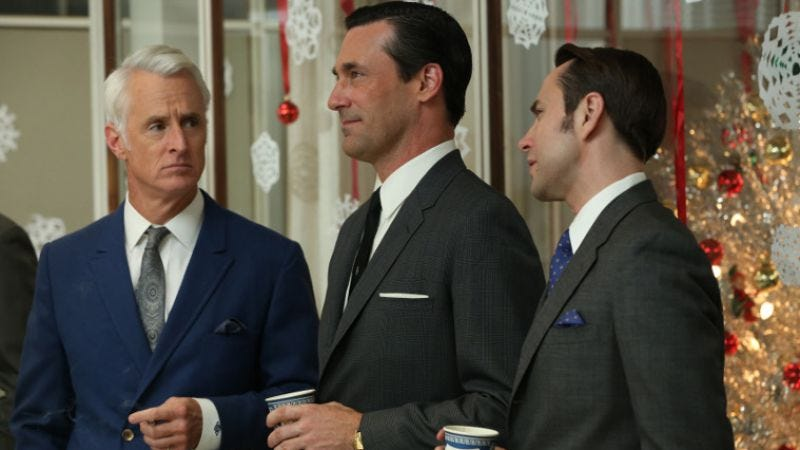 Illustration for article titled New photos from Mad Men wish you a merry Christmas, which is something you can buy but never truly have