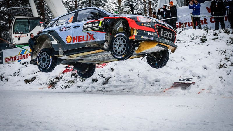 Illustration for article titled Rally Sweden Power Stage is LIVE