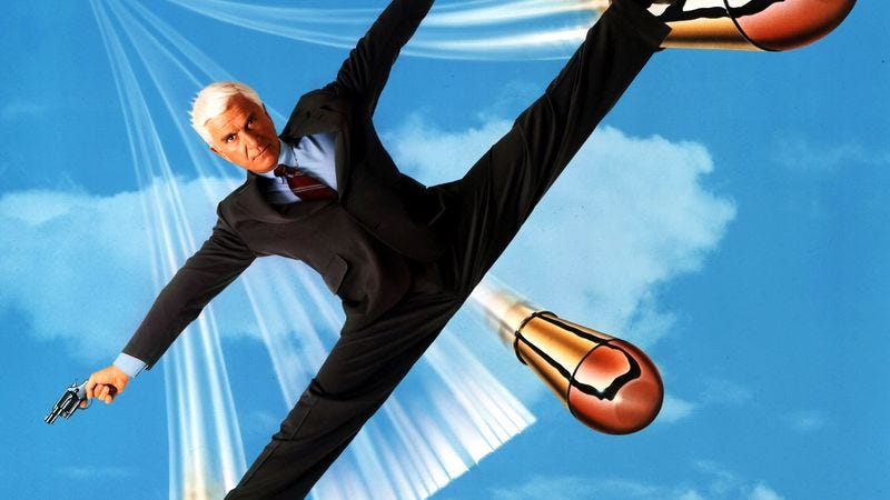 Illustration for article titled Dated jokes aside, the second Naked Gun is still funny