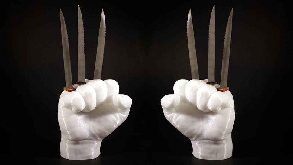 This Wolverine Knife Holder Is An Awesome And Incredibly Dangerous Way To Store Your Knives