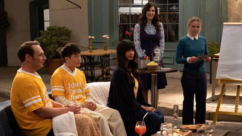 The Good Place Played A Demonically Delicious Game Of 'Guess Who?'