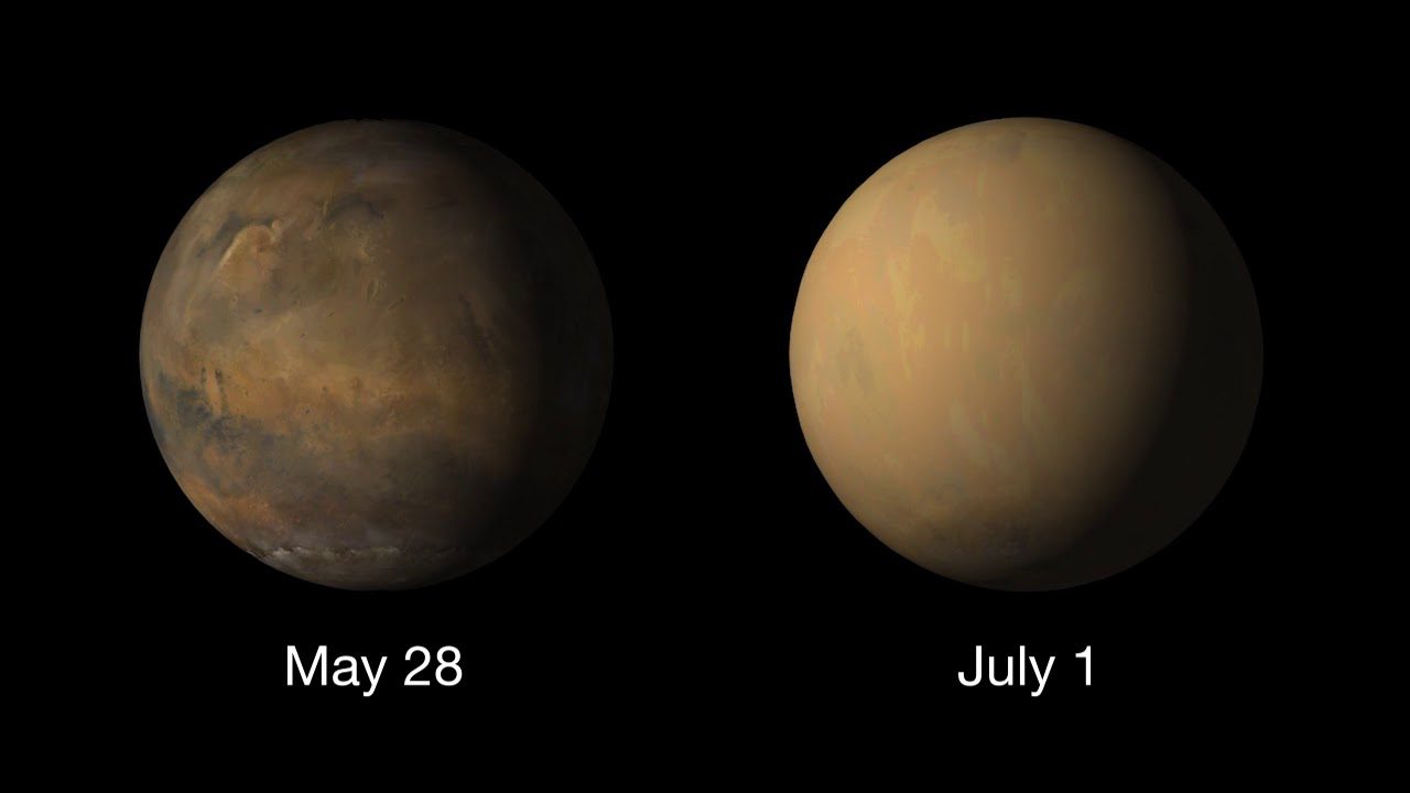 Here's How NASA Is Dealing With The Massive Martian Dust Storm