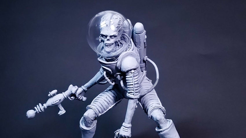 Inventive Sculpture Brings Mars Attacks! To The Planet Of The Apes