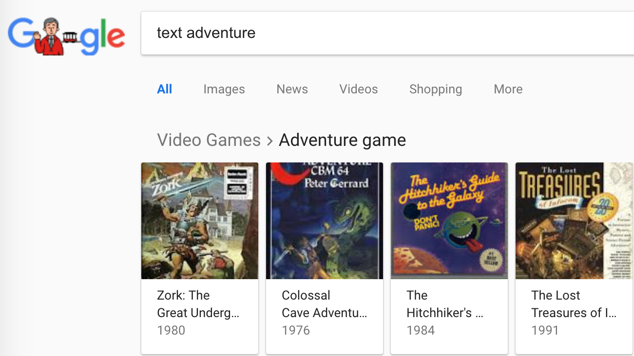 browser chrome easter-egg game google text-adventure