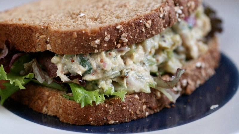 Chickpeas Make A Surprisingly Good Tuna Salad Substitute