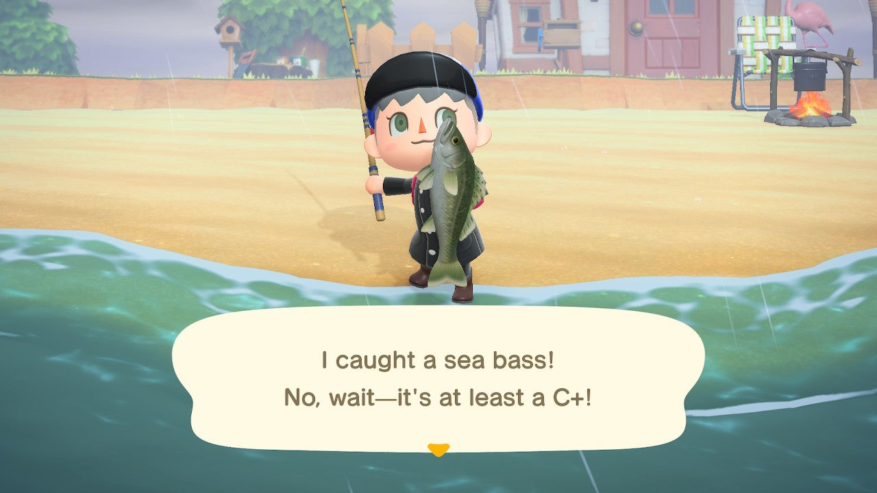 Maybe There Are Too Many Sea Bass In Animal Crossing: New Horizons