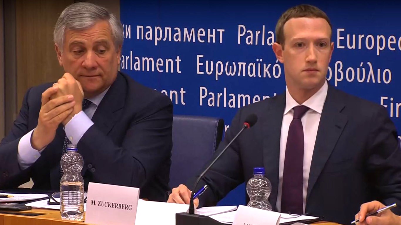 cambridge-analytica eu-parlaiment facebook gdpr privacy testimony