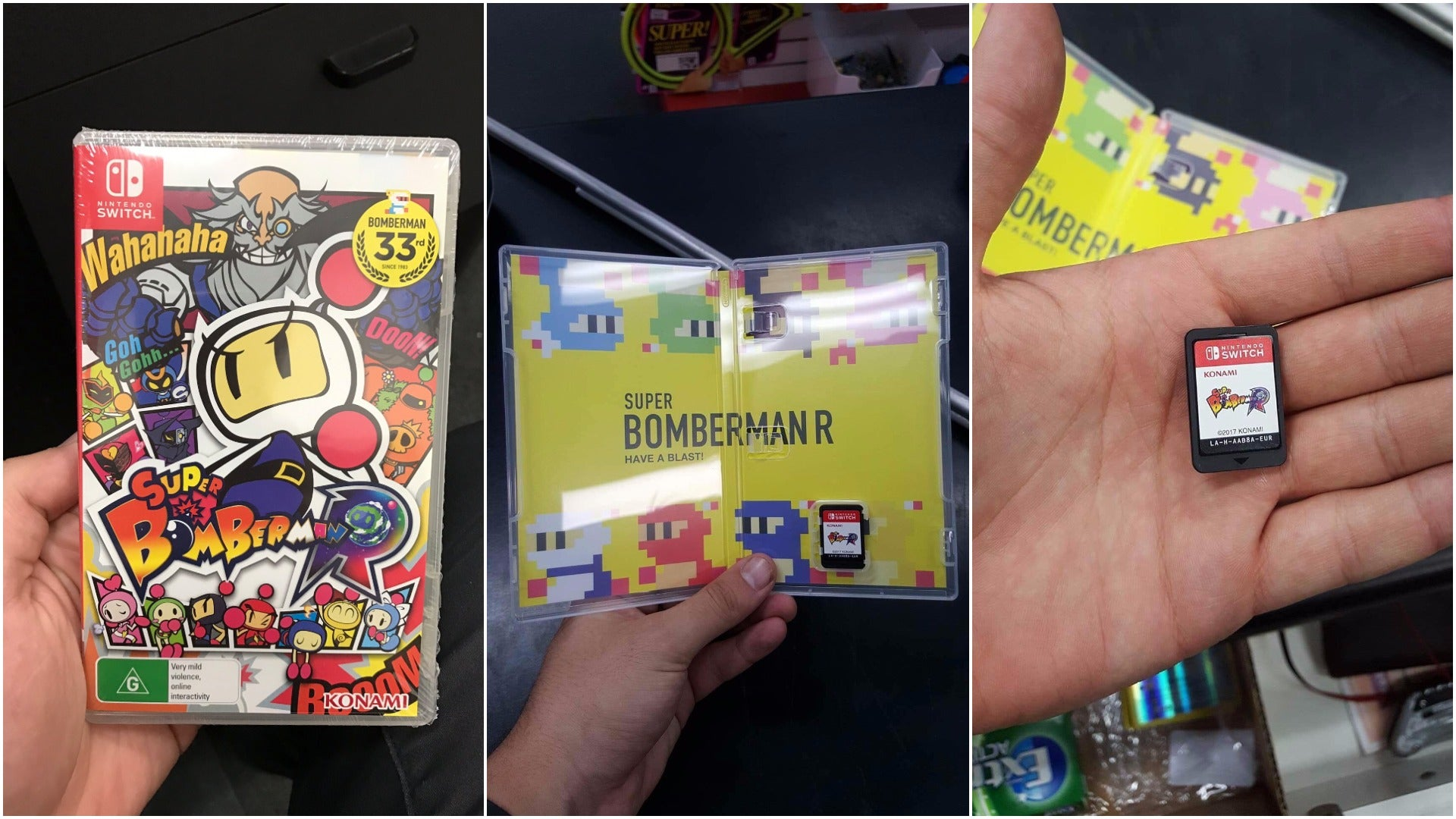 konami nintendo-switch super-bomberman-r switch