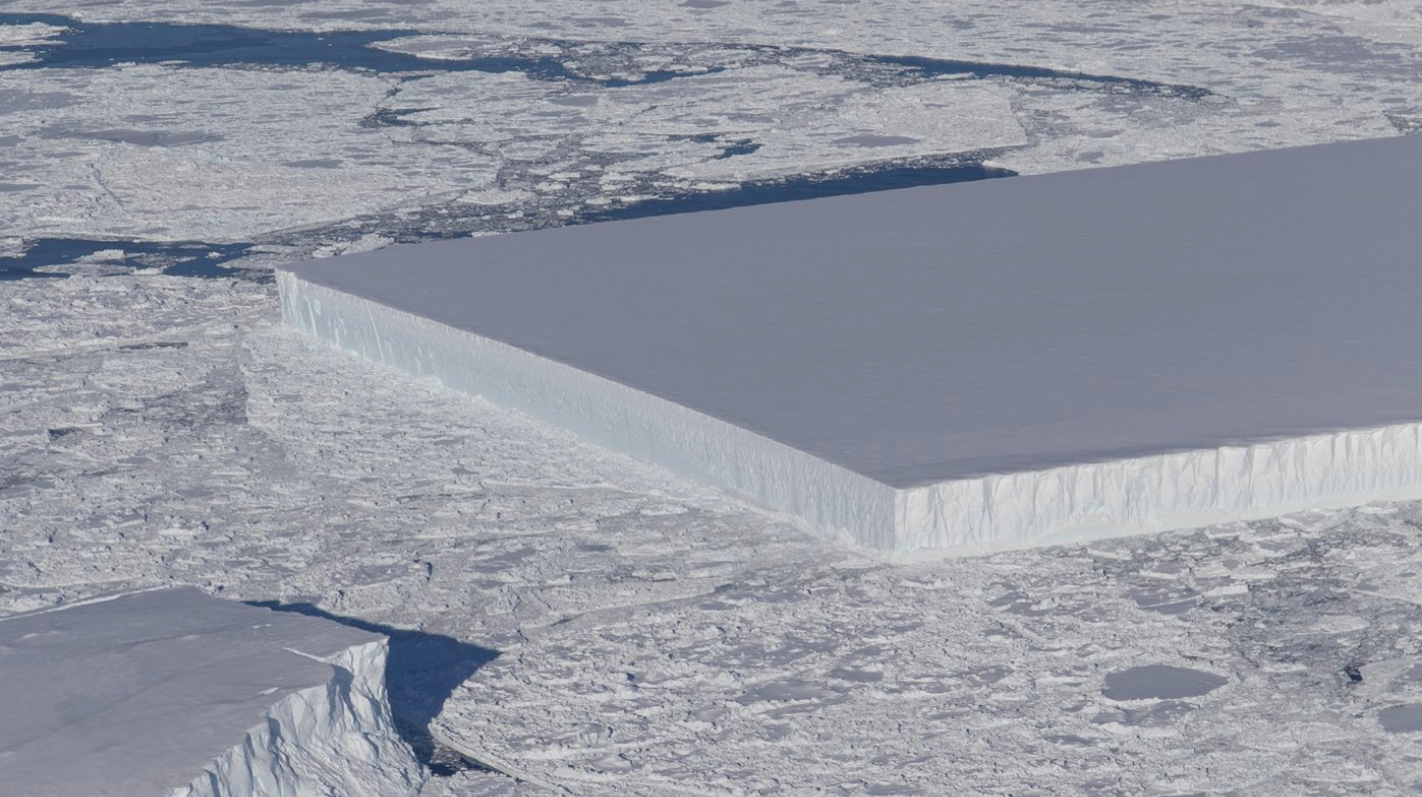 antarctica cookie-cutter-icebergs earther icebergs larsen-c-ice-shelf tabular-icebergs