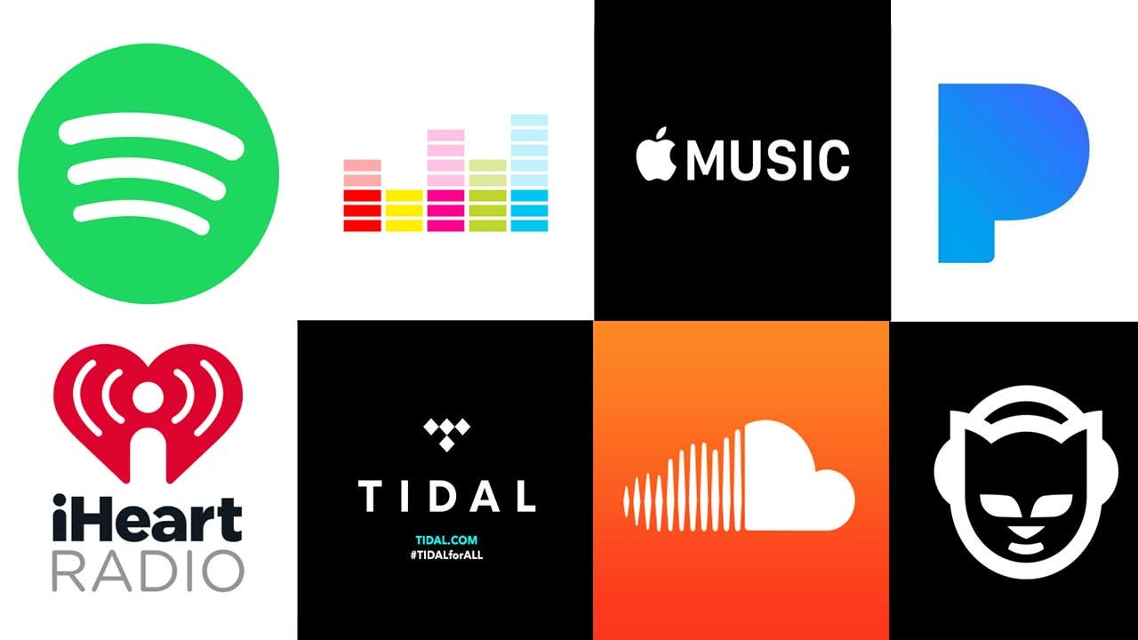 apple-music music online soundcloud spotify streaming-music streaming-services tidal