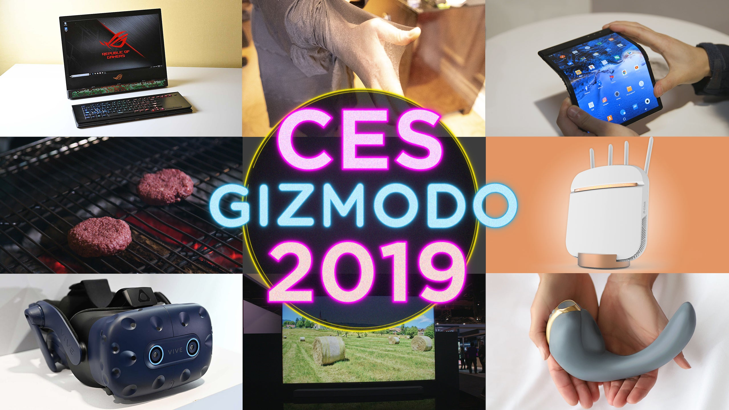 8k-tvs asus best-of-ces ces-2019 d-link impossible-burger lg soundbars the-north-face vive vizio vr wireless-power