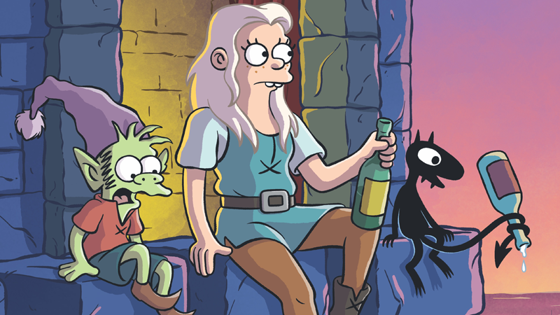 animation disenchantment futurama io9 matt-groening netflix simpsons streaming