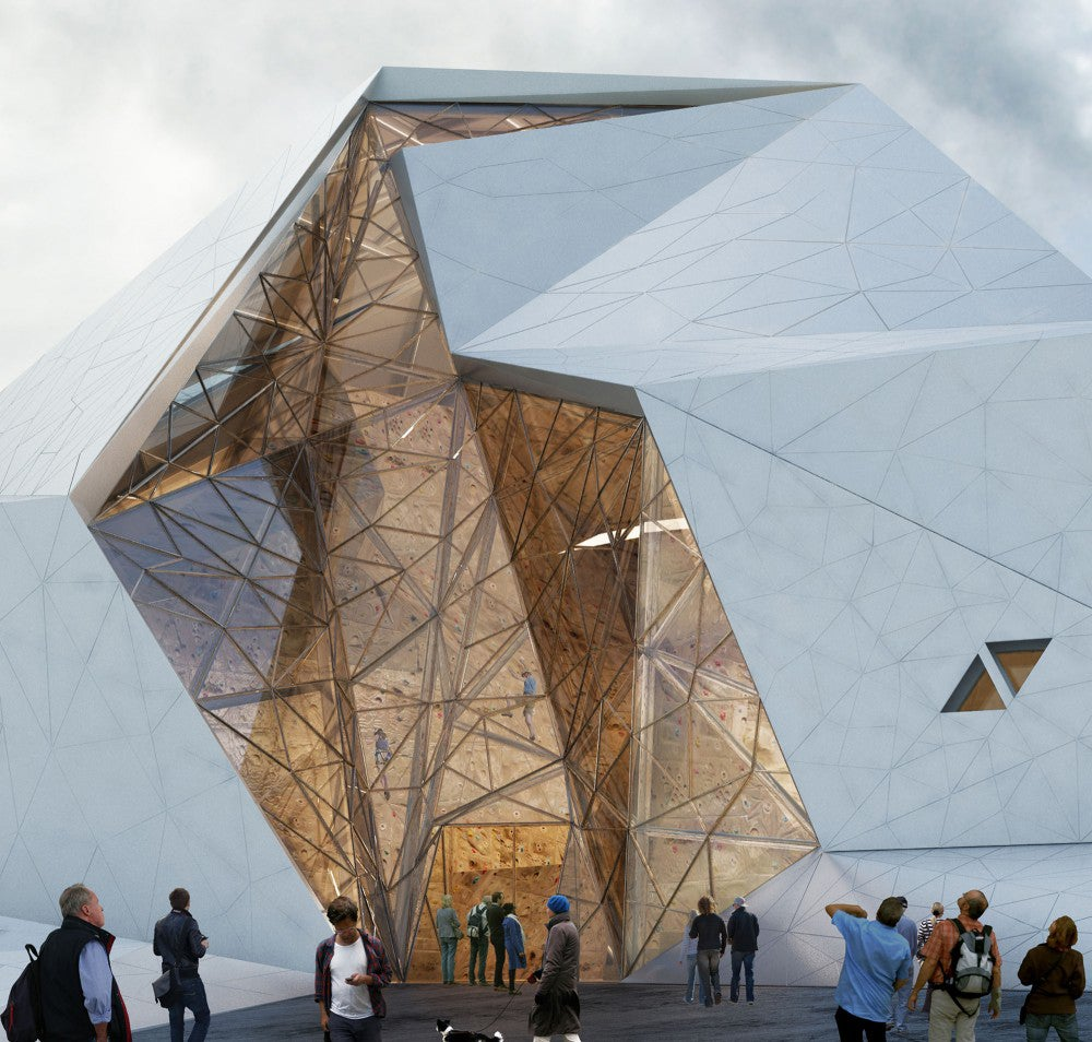This building is designed for everyone to climb all over it