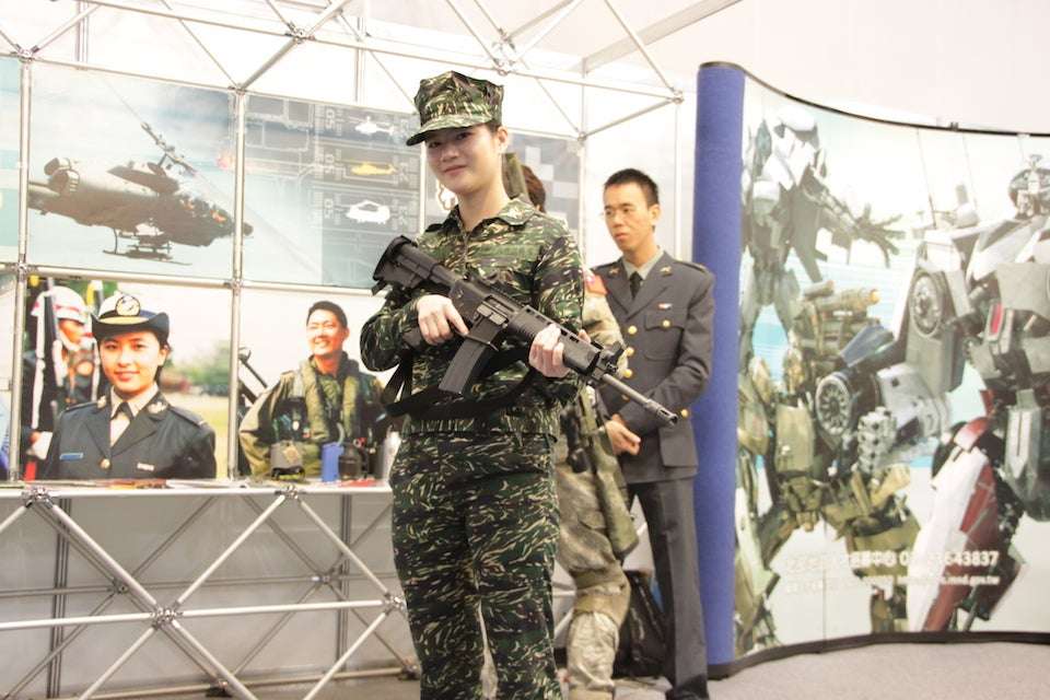 Taiwan's Military Scouts Recruits at Game Expo