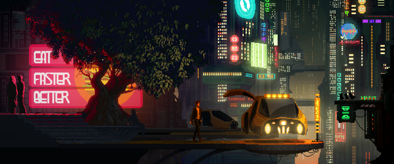 A Very Pretty Cyberpunk Video Game